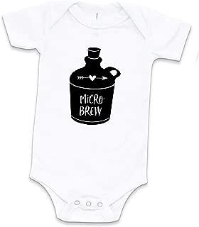 Micro Brew Baby Bodysuit, White, Funny Unisex Beer Bodysuit for Babies