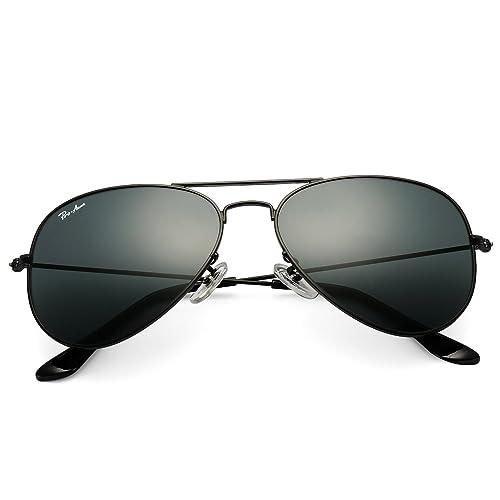 e822a7d8b6 Pro Acme Classic Aviator Sunglasses for Men Women 100% Real Glass Lens