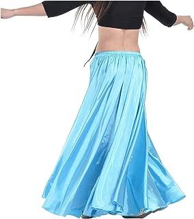Indian Trendy Women's Satin Full Circle Swing Halloween Belly Dance Tribal Skirt