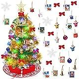 Yodeace Arbol de Navidad Pequeño,Arbol Navidad Pequeñocon Falda Arbol Navidad,60cm Mini...