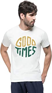 THREADCURRY Ain't Us Happy | Motivational Adventure Quote Cotton Printed Creative Tshirt for Men