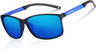 4d63956ec1 Queshark Gafas de Sol Deportivas Polarizadas Para Hombre Perfectas Para  Esquiar Golf Correr Ciclismo 14.5g