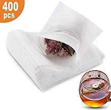 400 pcs Tea Filter Bags,Disposable Empty Loose Leaf Tea Bags (3.54 x 2.75 inch)