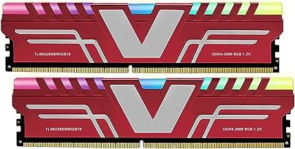 V-Color Prism RGB 16GB (2 x 8GB) DDR4 2666MHz (PC4 21300) CL16 1.2V Desktop Memory -RED (TL48G26S8KRRGB16)