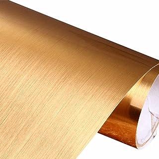 ELTON Metallic Brush Gloss Vinyl Self Adhesive Contact Paper for Bathroom Kitchens Closets Pooja Room Chimney Craft Projec...