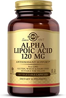 Solgar Alpha Lipoic Acid 120 mg, 60 Vegetable Capsules - Antioxidant Support - Helps to Recycle Glutathione, Vitamin C & E...