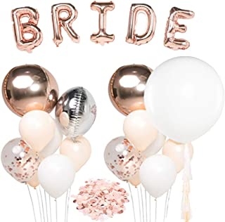 """UNIQOOO Rose Gold Balloons Bridal Shower Decorations
