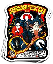 Snoopdy 3 PCs Stickers Just A Bunch of Hocus Pocus Halloween Day Party Hocus Pocus 4 × 3 Inch Die-Cut Wall Decals for Laptop Window