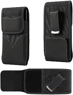 DFV mobile - New Style Nylon Belt Holster with Swivel Metal Clip for Manta MSP4008 Smartphone MSP4008 - Black