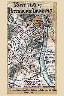 shows the area surrounding Shiloh Tenn including Pittsburg Landing on the Tennessee River Arrows show the direction of the...