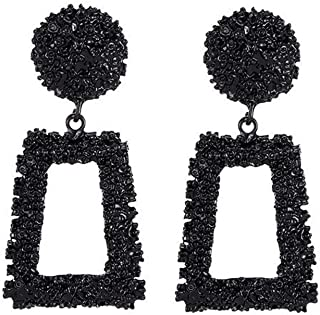LQQSTORE ☸ Ohrstecker Dame Ohrringe Bohemian Lange Geometrische Trapez Metall Schmuck Weibliche Ohrring Ohrschmuck Einfache Earrings Mädchen Hypoallergen Ohrhänger