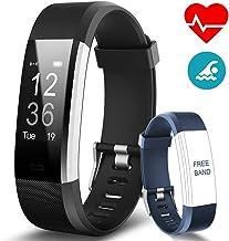 BANLVS Pulsera Actividad, Pulsera Inteligente con 14 Modos de Deporte, GPS Pulsómetro Monitor de Ritmo Cardíaco Sueño, Monitor de Actividad Impermeable IP67 Reloj Inteligente para iOS y Android