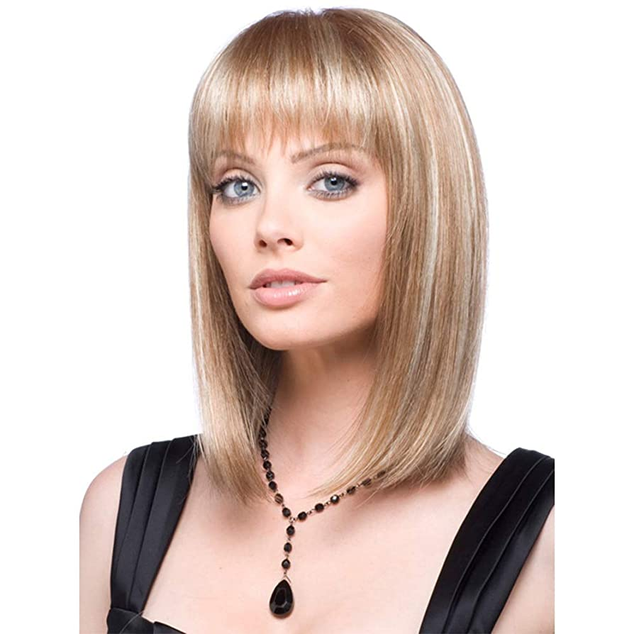 断言する実業家かろうじて女性の短い巻き毛のかつら15