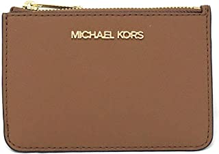 Michael Kors Jet Set Travel Small Top Zip Coin Pouch with ID Holder Saffiano Leather (Luggage)