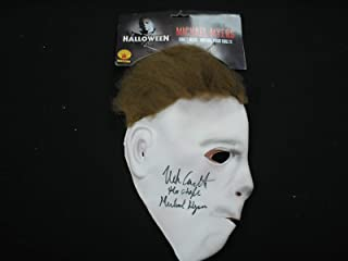 NICK CASTLE Signed Michael Myers Latex MASK Autograph Halloween The Shape Michael Myers