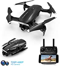 $64 » Foldable Drone with 720P HD Camera, 2.4 Ghz RC Quadcopter, 120° Wide-Angle, Altitude Hold, Voice Control, APP Control, One Key Return, Easy to Fly for Beginners Adults Boys Girls, 2 Batteries