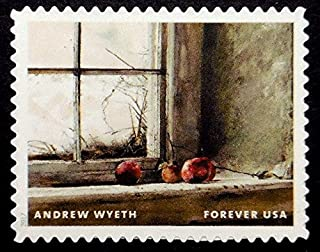 Painting by Andrew Wyeth, Artist 1917-2009, Fruits -Handmade Framed Postage Stamp Art 21673AM