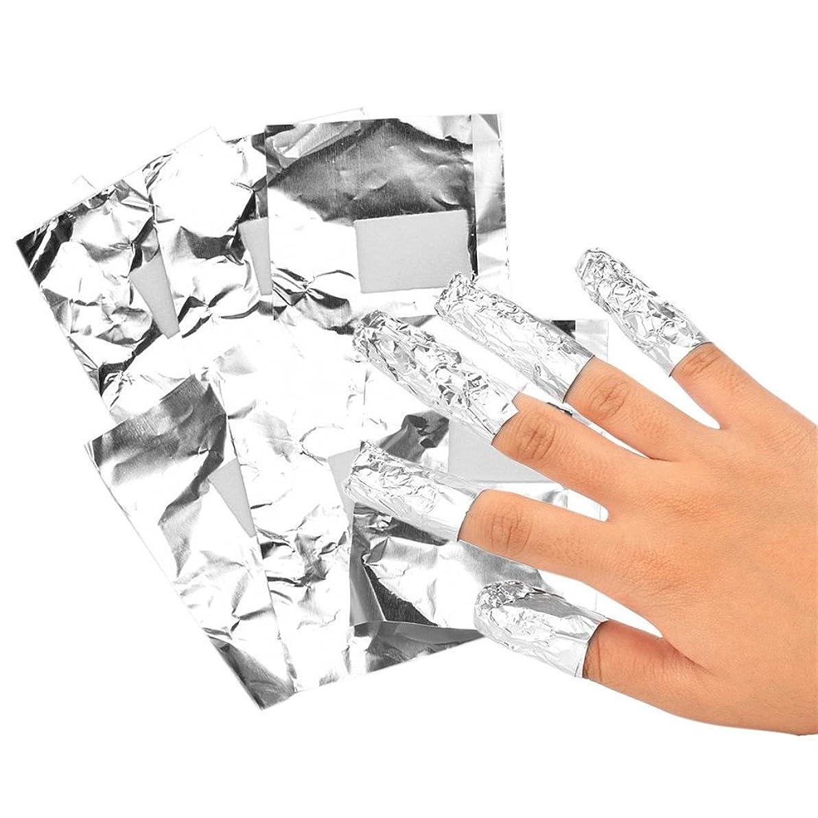 辛なタイル慢SM SunniMix ネイルフォイル アルミ箔 ネイルアートジェル除去ツール プロ 爪装飾除き 包み紙 約100本入り