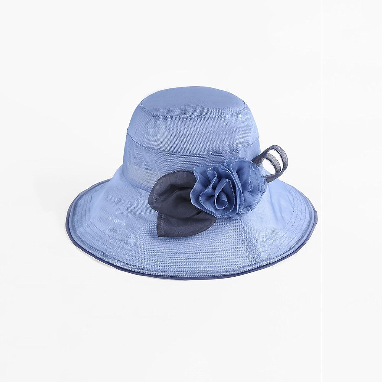 QY Sun Predection Cap AntiUV Sun Cap Windproof Cap Visor Hat (color   Light bluee)