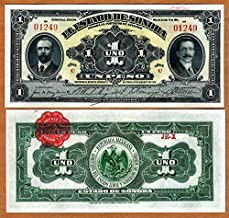 Nice1159 Mexico, Revolution, 1 Peso Banknote, 1915, P-S1071, Sonora, UNC - very rare For collectors (only 10 pcs left)
