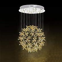 Moderne Crystal Kroonluchter Restaurant Plafondlamp Ronde Crystal Lamp Woonkamer Slaapkamer Plafondlamp Eenvoudige Creatie...