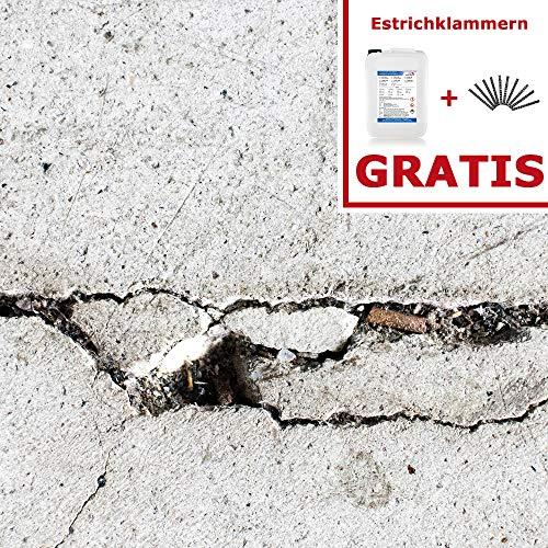 Komplett-Set Home Profis® HPLH-100 Gießharz Rissharz Reparaturharz Estrich Reparatur (1,2kg Epoxidharz inkl. 20 Estrichklammern) Garage Werkstatt