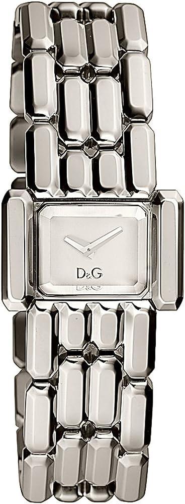 Dolce & gabbana,d&g time,orologio per donna,in acciaio inossidabile DW0470