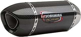 Yoshimura 15-18 Yamaha YZF-R1 Alpha Slip-On Exhaust (Signature/Stainless Steel/Carbon Fiber/Carbon Fiber)
