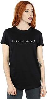 Friends Mujer Text Logo Camiseta del Novio Fit