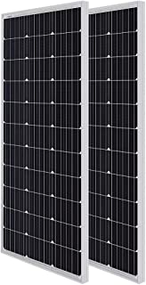 Renogy 2 Packs 100W 12V Monocrystalline Solar Panel, Compact Design 42.2 X 19.6 X 1.38in, High Efficiency Module PV Power for Battery Charging Boat, Caravan, RV and Any Other Off Grid Applications