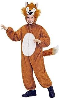 Das Kostümland Disfraz de Animal para niños - Divertido Disfraz para Carnaval, Fiesta temática y Carnaval Infantil (Zorro, 4-6 años)
