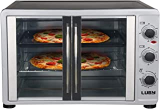 Luby Extra Large Toaster, Countertop Electric Oven, 18 Slices, 14'' Pizza, 20lb Turkey, Silver, Stainless Steel