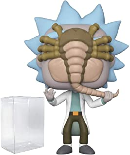 RICK AND MORTY Funko Pop Rick with Facehugger (Gamestop Exclusive) Funko Pop! Vinyl Figure (Includes Compatible Pop Box Protector Case)