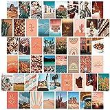 50 STÜCKE Wall College Kit Bildkarte für Schlafzimmer Wohnheim Zimmer Büro Ästhetisches Zimmer Dekor Foto Collage Kit für Wandkunst Bilder für Teen Mädchen und Frauen Bunt 10x15 CM