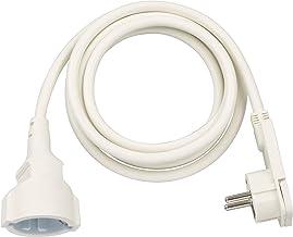 Brennenstuhl Qualitäts-Kunststoff-Verlängerungskabel mit Flachstecker Verlängerungskabel flach für innen mit 2m Kabel weiß