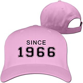 Men's Since 1966 50th Birthday Gift Adjustable Flexfit Fitted Hats Baseball Caps Ash