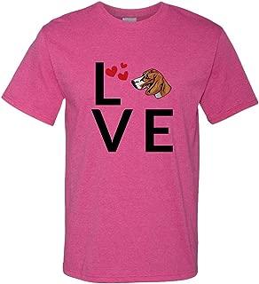 Custom Funny Graphic T Shirts for Men Love Hearts Posavac Hound Dog Cotton Top