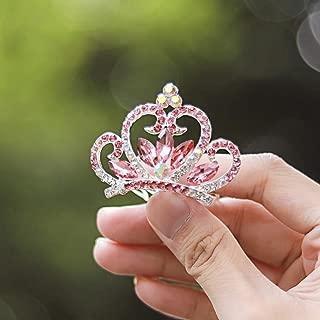red flower tiara
