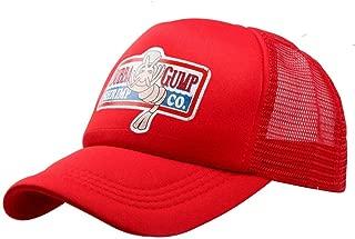 Adjustable Bubba Gump Baseball Cap hat Forrest Gump Mesh hat (Red)