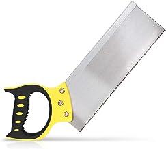 Navaris Serrucho de costilla de 30CM - Sierra de precisión para cortar madera y carpintería - Con mango de tacto suave y fina hoja de acero
