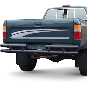 """Warrior Products 53250 Rear Tube Bumper with 2"""" Receiver Hitch for Toyota 79-95"""