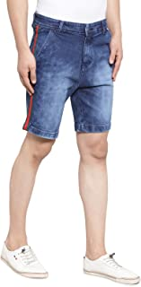 Ben Martin Men's Slim fit Denim Shorts -(BM-Tape-DNM-Shorts-RED-GRN)