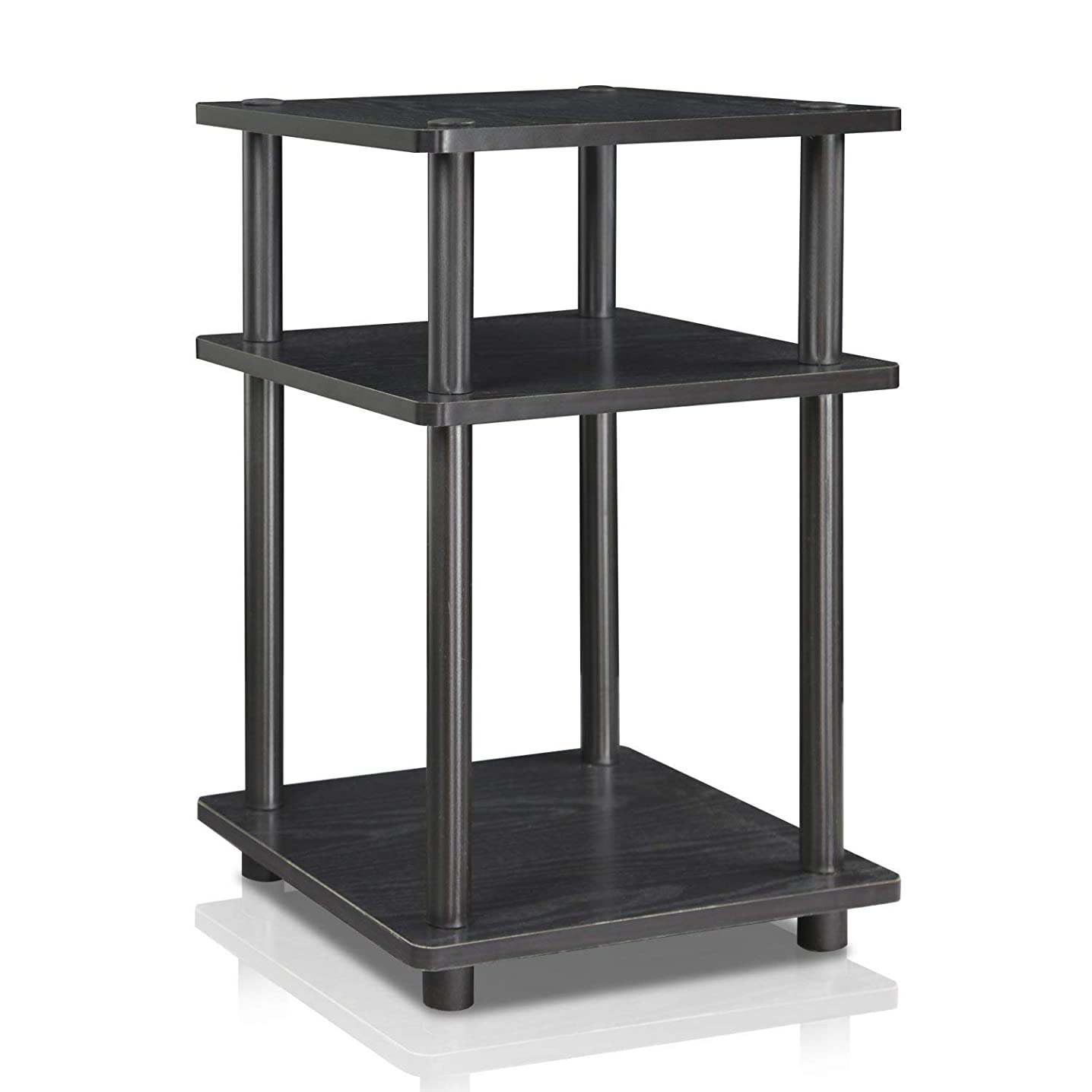 Furinno 15095BW/BK Turn-N-Tube Multipurpose Shelf, Black