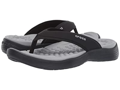 Crocs Reviva Flip (Black/Black) Women