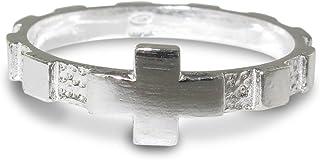 Rosario anello in argento 925 con 10 quadrati misura italiana n°18 - diametro interno mm 18,5 circa