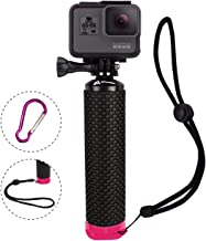 Waterproof Floating Hand Grip Compatible with GoPro Hero 8 7 6 5 4 3+ 2 1 Session Black Silver Handler & Handle Mount Accessories Kit for Water Sport and Action Cameras (Rose Red)