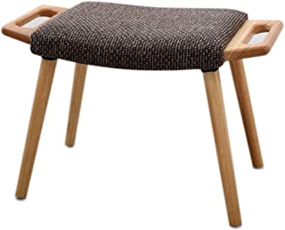 Yxsdd Solid Wood Small Bench Ottoman Stool Change Shoes Stool Footstool Fabric Sofa Stool (Color : A)