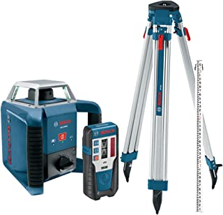 Bosch Exterior Self-Leveling Rotary Laser Kit with Receiver, Tri-Pod, Grade Rod, and Hard Case GRL400HCK
