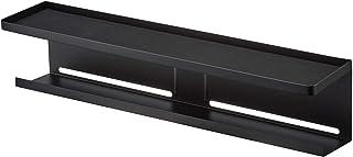 日本市場で強力 山崎ビジネス(山崎)TVバック収納ラックブラック W57 x D11 x H12.5 cm ..