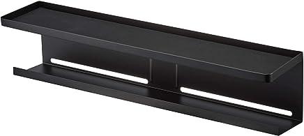 山崎実業(Yamazaki) テレビ裏収納ラック ブラック 約W57×D11×H12.5cm スマート テレビ裏 ルーター収納 収納棚 4484